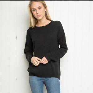 Brandy Melville Black Ollie Sweater Size S